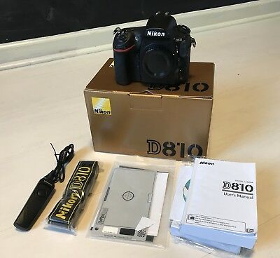 Nikon D810 DSLR Camera Body + $200 of EXTRAS + ORIGINAL BOX + MINT