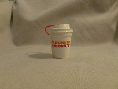 """Dunkin Donuts Coffee cup Christmas Tree Ornament 2 1/2"""" x 2"""""""