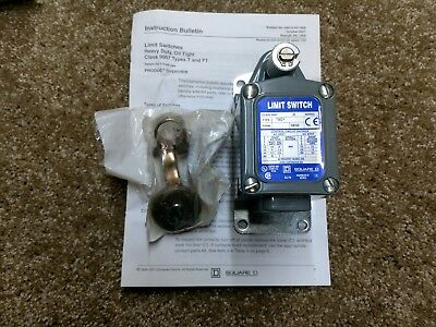 Square D Type TSD1 Limit Switch, Heavy Duty, Oil Tight, Class 9007 New