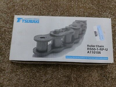 TSUBAKI RS50-1-RP-U 10FT/3.048m Roller Chain 192 Links A110106
