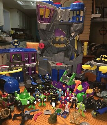 Large Lot of Imaginext Batman Playsets Vehicles And Figures