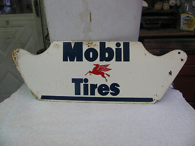 Mobil Tires  Metal Tire Stand Sign