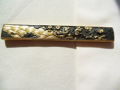 Japanese Sword Kozuka Handle, Outstanding Quality Carving Of Famous Sea Battle