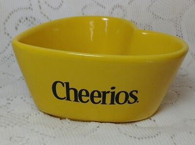 Cheerios Yellow Heart Shaped Collector Cereal Bowl 2003 General Mills