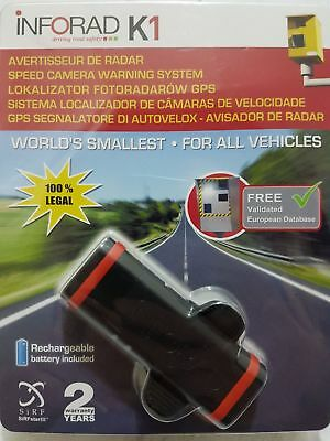 INFORAD K1 Pack GPS Speed Camera DETECTOR/WARNING SYSTEM