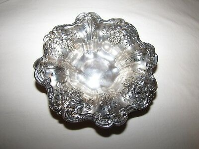 "Reed & Barton Francis I Sterling Silver 8"" Grape Pattern Bowl"
