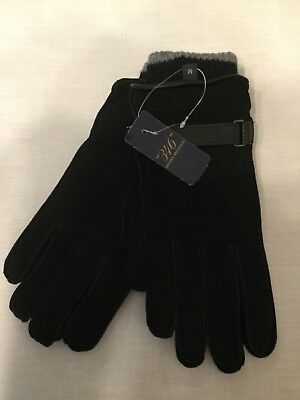 Brooks Brothers Mens Black Suede/leather Gloves  Removable Liners Nwt  $89
