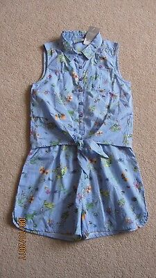 BNWT Girls NEXT Playsuit Age 9 8-9 Winter Spring Holiday Ditsy Floral All-in-One