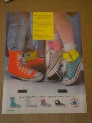 1987 Converse All Stars Shoe Ad