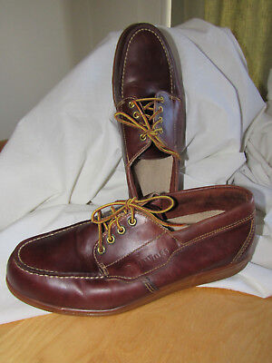 Vintage Red Wing Mens Oxfords Steel Toe Brown Leather Moc Lace Work 10 D 14227