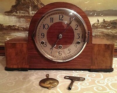 "A Rare 1935 Norland ""Westminster"" 8-Day Chiming Mantel Clock –Overhauled & G.W.O"
