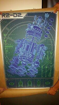 A Linch Pin Droid by Kevin Tong - Regular 24x36in - Mondo print R2-D2 poster