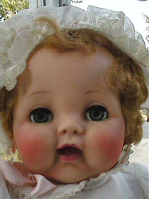 "Vintage Madame Alexander Cry Baby Doll Fashion Academy Award Tag 22"" 50's WORKS!"