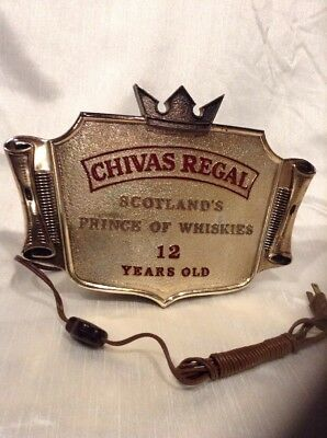 CHIVAS REGAL Bar Light Sign / Scotland's Prince Of Whiskies 12 Years Old