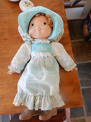 "1997 Holly Hobbie Knickerbocker Doll  APP 15"" Length  Blue Dress"