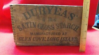 1800,s  duryeas satin gloss starch box double sided writing