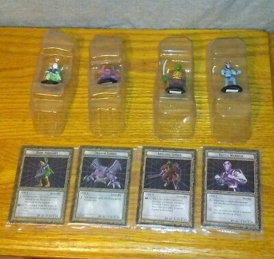 RARE YUGIOH Dungeon Dice Monsters DDM - 4 figures & cards lot