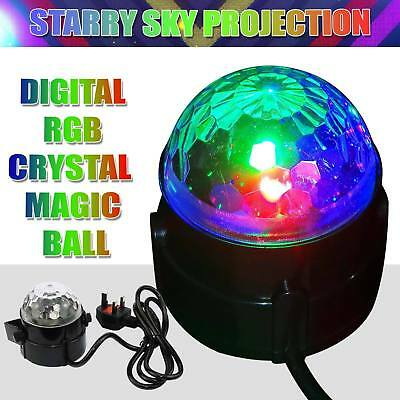 LED RGB Stage Effect Light Laser Crystal Magic Ball Disco Party DJ Show Lamp