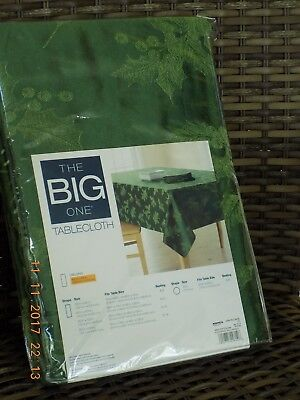 The Big One Tablecloth 60 X 84, SOLID GREEN HOLLY-NIP
