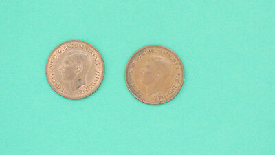 Lot of 2 Coins - Great Britain 1940 One Penny