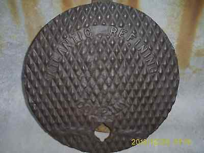 Atlantic Refining Company Gas Station Fuel Tank Cap Cast Steel Ground Cover