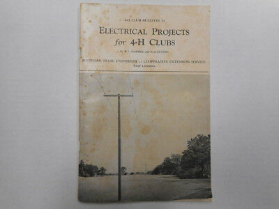 1956 4-H Club Electrical Projects Bulletin 53
