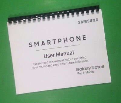 Samsung Note 8 For T-Mobile Phone 226 Page Laser Printed Owners Manual Guide