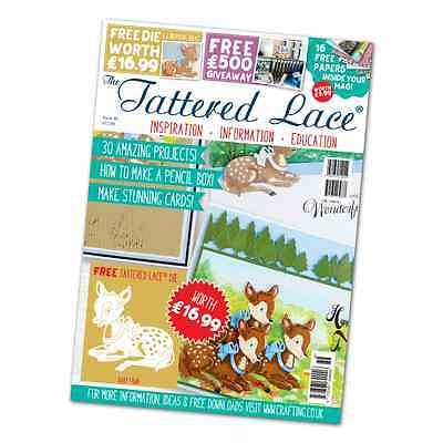 Tattered Lace Magazine Issue 36  with 'Baby Fawn'  Die