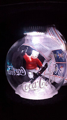 "2005 Coca-Cola Polar Bear Illuminated Christmas 4"" Globe ornament"