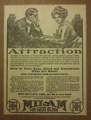 1912 Milam For Good Blood Ad Attraction