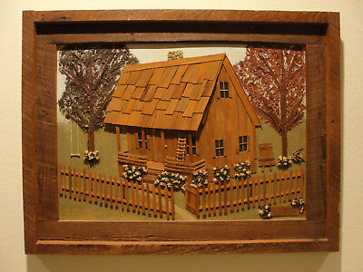 "WOW! ""Home"" by Louisiana Folk Art Mary Thibodeaux 3D Bucolic Americana Amazing!!"