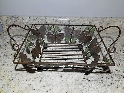 Traditional Vintage Metal Butterfly/ Leaf Detailed kitchen wire basket