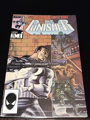 1986 THE PUNISHER #2 1st solo limited mini series Fine- FN- Netflix TV show