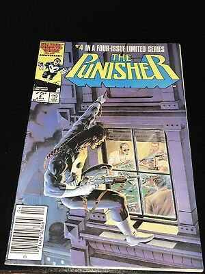 1986 THE PUNISHER 4 1st solo limited series Newsstand Variant Fine FN Netflix TV