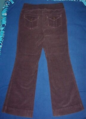 Duo Maternity Boot-cut Flare Brown Corduroy Pants Jeans Cords Size Medium 6-8