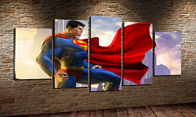 Oil Painting HD Print Wall Home Decor Art on Canvas Superman 5PCS Unframed