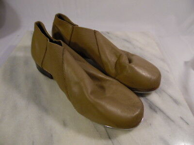 Leo's Ultratone Jazz Tap Shoes Woman's Size 7M - Slip On - Taupe