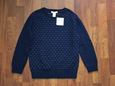 Janie and Jack Boys Navy Holiday Sweater New With Tags NWT Size 6
