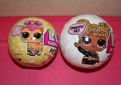 L.O.L. Surprise.  Set of 2.  One Glitter Series and One Series 3 Pets.  LOL !!