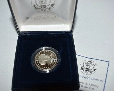 1999-P Susan B Anthony Dollar -  Proof in Original Box with COA