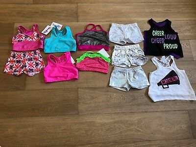 NWT Reflectionz Girls Top Short Lace Tank Dance Cheer Tumbling Dress Up Size 4