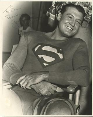 """George Reeves incredible signed photograph as """"Superman"""". Lot 56"""