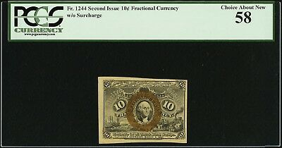 Fr. 1244 10¢ Second Issue, Fractional Currency, PCGS Choice About New 58