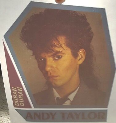 Lot of 2 Vintage DURAN DURAN Iron On Transfers - ANDY TAYLOR/NICK RHODES - RARE!