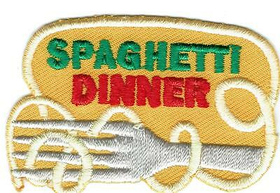 GIRL BOY YELLOW SPAGHETTI DINNER Patches Crests Badges SCOUT GUIDE  Fundraiser