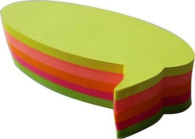"""4A Die-cut Sticky Note-Bubble Shape-3.4""""x1.9""""-Neon Assorted-200 sheets NEW STYLE"""