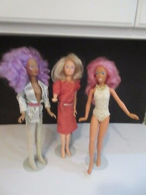 Vtg 1980's Jem And The Holograms Jem Dolls NEED LOVE & ATTENTION Group of 3