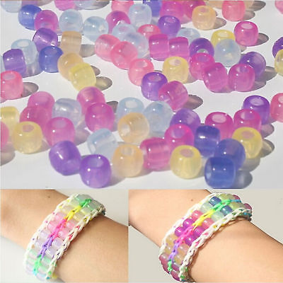 Beads Sunlight Color Changing 20X UV Reactive Bracelet Magic Kids Crafts Pony