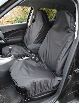 Toyota Yaris (2011-Date)HEAVY DUTY WATERPROOF BLACK CAR VAN SEAT COVERS PAIR 1+1
