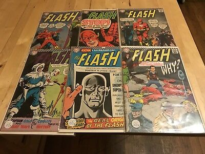 Flash Silver Age Comic Book Lot Infantino Dc 162 163 164 166 167 171 12 Cents
